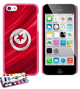 Carcasa Rigida Ultra-Slim APPLE IPHONE 5C de exclusivo motivo [Tunez Bandera] [Rosa caramelo] de MUZZANO  + ESTILETE y PAÑO MUZZANO REGALADOS - La Protección Antigolpes ULTIMA, ELEGANTE Y DURADERA para su APPLE IPHONE 5C