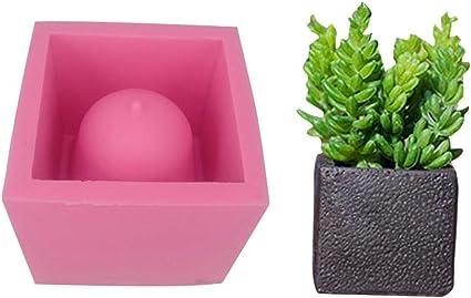 Batyuery Cat Shape Flower Pot Molds Concrete Silicone Mold for Succulent Plant Flower Pot
