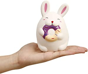 Anboor 4.7 Inches Rabbit Squishies Kawaii Soft Slow Rising Cute Scented Animal Squishys Stress Relief Kids Toys Decorative Props