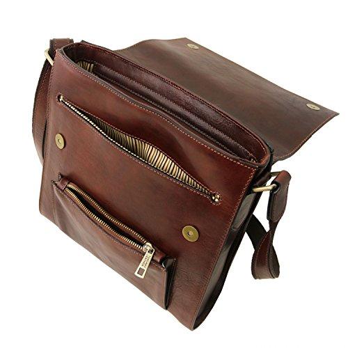 Delantero en Leather Miel para Marrón Tuscany Piel Oliver Bolso con Bolsillo Hombre d7qzzXw