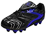 D Power Kid's Indoor Outdoor Turf Soccer Cleat (3 M US Little Kid, Black/Royal Blue)