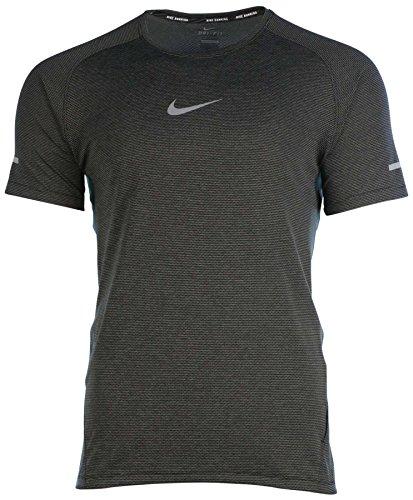 Nike Mens Black Dri-FIT AeroReact Short Sleeve Training T-Shirt (Large)