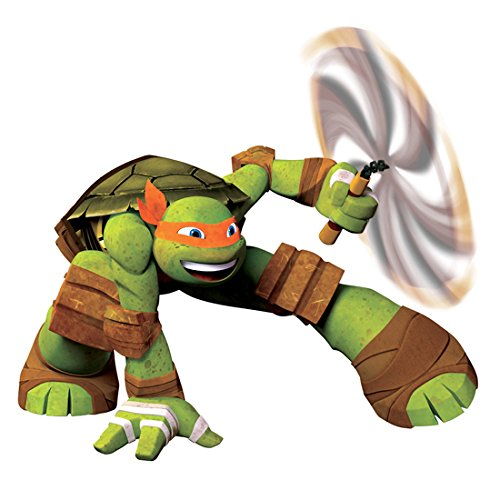 Teenage Mutant Ninja Turtles: Out of the Shadows (2016) Photo 8 inch x 10 inch PHOTOGRAPH Michelangelo Full Body Twirling Nunchucks kn -