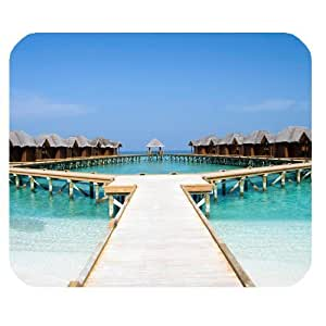 Maldives Small Bridge and Blue Sea Personalized Rectangle Mouse Pad