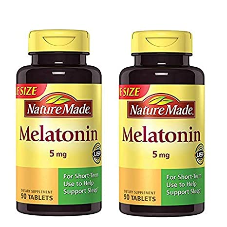 Maximum Strength Melatonin 5 mg Tablets 90 Ct (2 Pack) natural sleep aids - 51NDcwOre3L - Natural sleep aids – the best supplements to end sleepless nights