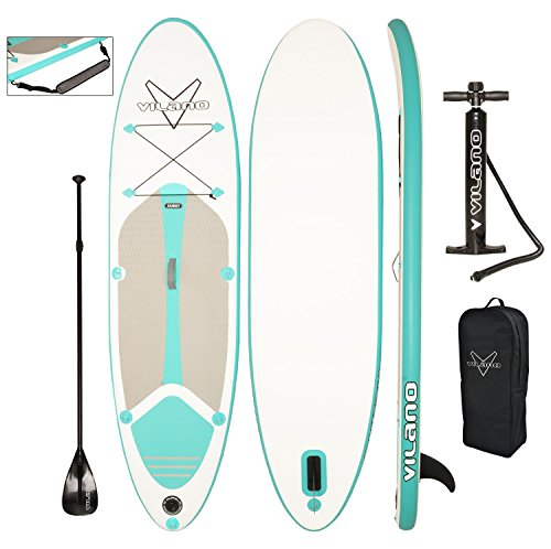 Vilano Journey Inflatable SUP Stand up Paddle Board Kit (Paddle Board Inflatable)