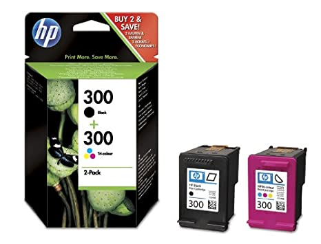 Amazon.com: HP 300 Combo-pack Black/Tri-colour Ink ...