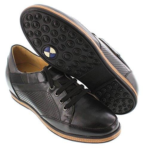 Toto D23003-2.6 Pouces De Hauteur - Hauteur Augmentant Les Chaussures Dascenseur - Lacets Noirs