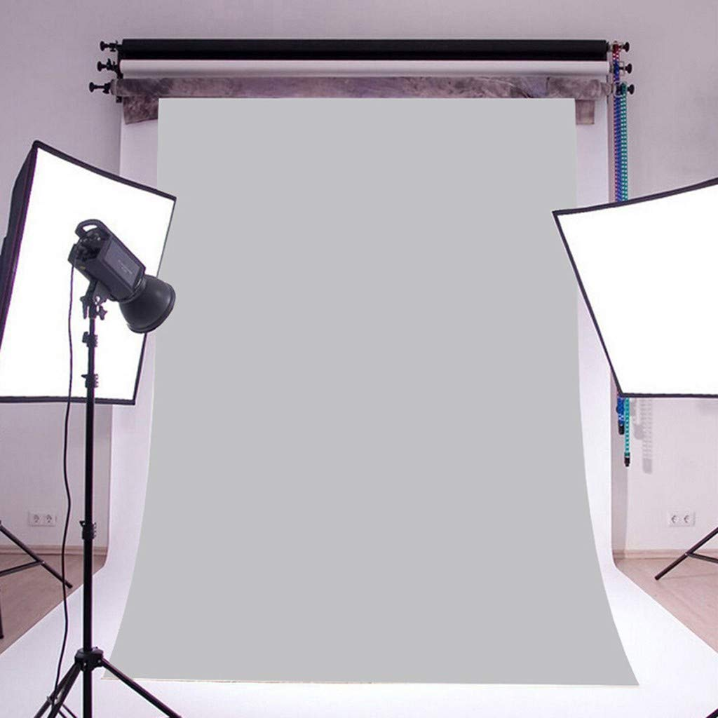 UMei 5x3ft Photo Studio Backdrop waterproof Solid Color Fabric Collapsible Photography Background for Photography,Video Gray
