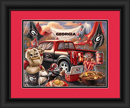 Prints Charming 4865505076 Georgia Bulldogs Tailgate Print Wall Decor - 15 x 18 in. ()