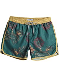 3987aa2cf23ab Mens Boys Short 80s 90s Vintage Swim Trunks with Mesh Lining Quick Dry Swim  Suits Board
