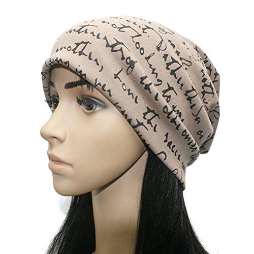 Unisex Beanie Cap Thin Hip-hop Letter Hat Slouchy Long Beanie Knit Snowboard Hats Thin Hip-hop Skull Cotton Caps ()