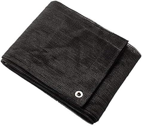 シェードセイル 75% シェーディング率 丸線 通気性 パティオ バルコニー 熱心な 遮光ネット 黒、 23サイズ 日除け シェード MM (Color : Black, Size : 3x4m)