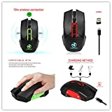 Aries 2.4GHz USB Wireless Optical Gaming Mouse Mice With 6 Keys For Computer PC Laptop Computer(Color:Black)