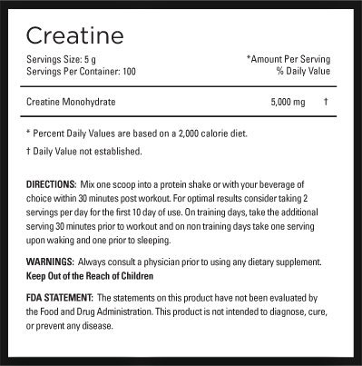 MyoCreatine, Creatine Monohydrate, 500g (100 Servings)