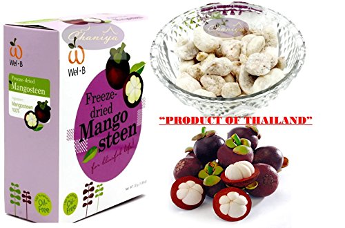 Crispy Freeze dried Fruit Mango Steen ''The Queen of Fruit'' Healthy Snack 100% all Natural Oil-Free 1 Box 30 g. (1.06 Oz) by Freeze Dried Fruits