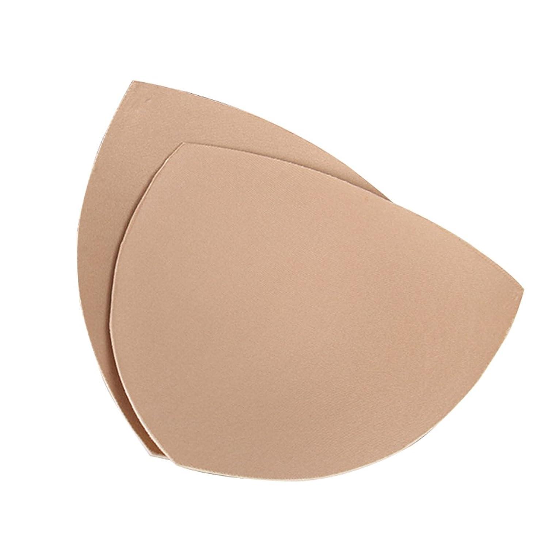 LAOO SA Foam Women's Comfy Cups Bra Pads Inserts-Triangle (L, Beige)