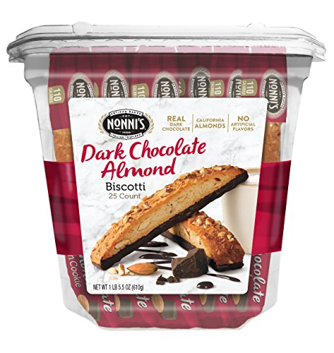 Nonni's Biscotti Value Pack, Cioccolati Dark Chocolate Almond, 25 Count, 1.3 Pound