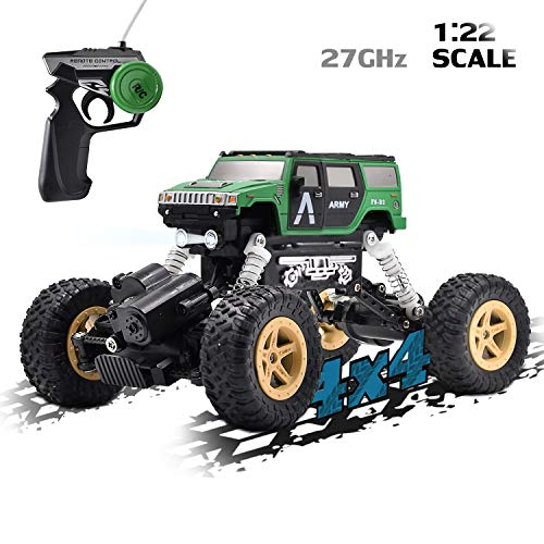 Vanzer Rock Off-Road Vehicle Remote Control Car, 1/22 Scale 4 WD, High Speed RC Vehicle Racing Toy for Boys Girls and Adults
