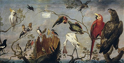 Oil Painting 'Snyders Frans Concierto De Aves 17 Century', 8 x 16 inch / 20 x 40 cm , on High Definition HD canvas prints is for Gifts And Gym, Home Office And Powder Room Decoration, HD