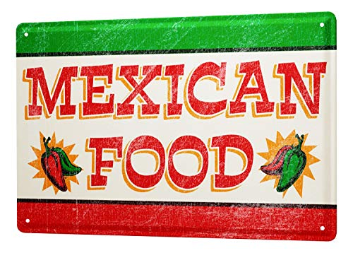 LEotiE SINCE 2004 Tin Sign Metal Plate Decorative Sign Home Decor Plaques Food Restaurant Decoration Mexican Food Metal Plate 8X12