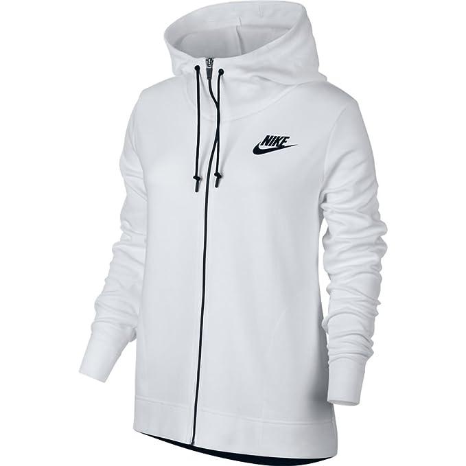 Sudadera capucha Nike – Sportswear Advance 15 blanco/negro talla: M (Medium)
