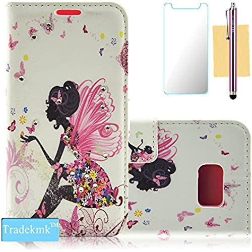Galaxy S7 Edge Case,S7 Edge Case, Tradekmk(TM); PU Leather Card Holders And Stand Wallet Phone Case(Girl with Wing) For Samsung Galaxy S7 Edge Sales