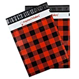 Inspired Mailers Poly Mailers 10x13 Plaid Flannel – Pack of 100 – Unpadded Shipping Bags