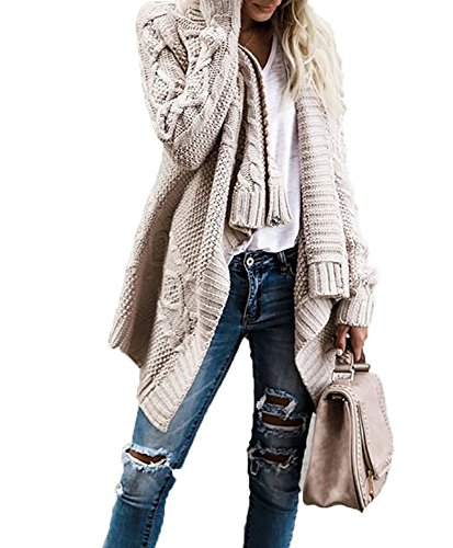 Weave Knit Long Sleeve Open Front Sweater Cardigan Outerwears (Juniors Open Weave)