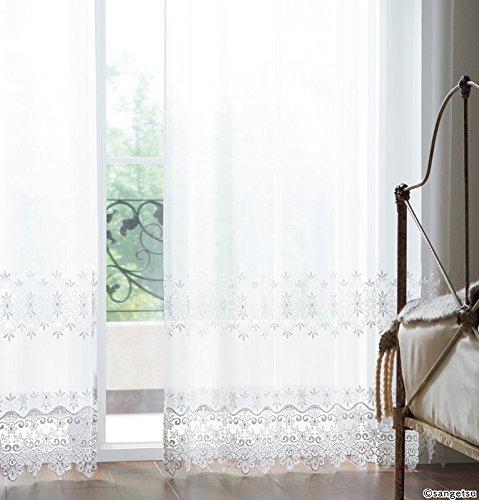 サンゲツ エレガンスなモチーフをシンプルな刺繍表現 フラットカーテン1.3倍ヒダ SC3725 幅:300cm ×丈:250cm (2枚組)オーダーカーテン   B078486YLF
