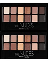 Maybelline New York The Nudes Eyeshadow Makeup Palette, 2 Count