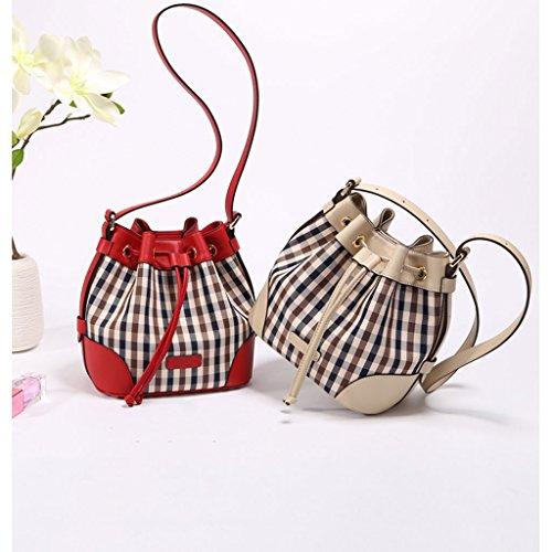 Sac sac femelle Sac Beige coréenne Messenger seau de féminin sac femme en toile en Bag l'épaule version toile rr6Agxn