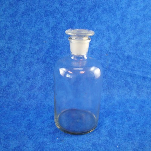 Reagent Bottle, Clear Glass, Narrow Mouth, 250ml / 8 Oz