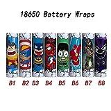 Graven 18650 Battery Skin Sticker 18650 Battery Skin Wrap Protective Sleeve Vape Electron