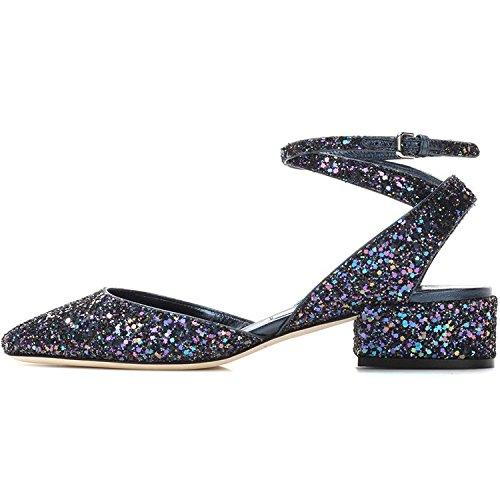 paillettes de commerce été mode extérieur HASP taille les sauvages Toe doux printemps fait petite avec sandales Bleu ont des brut chaussures 2017 et des femmes qvnAxwn4fF