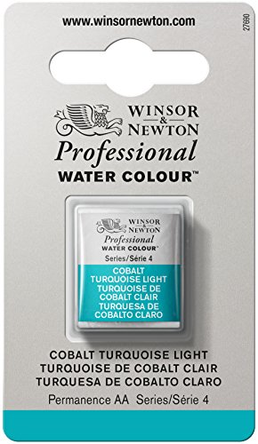 Professional Colour (Winsor & Newton Professional Water Color with Half Pan, Cobalt Turquoise Light)