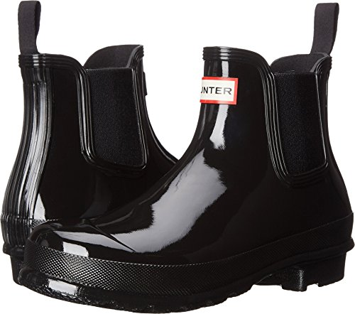 Hunter Women's Original Chelsea Gloss One Tab Black Boot (Rain Boot Chelsea)