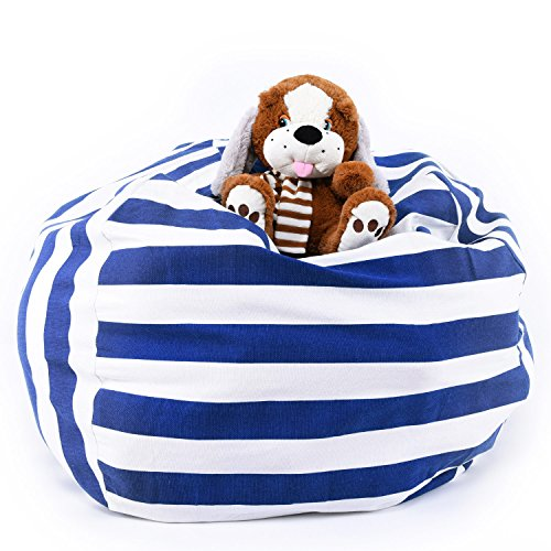 Stuffed Animal Storage Bean Bag Chair Cover By LAGHCAT