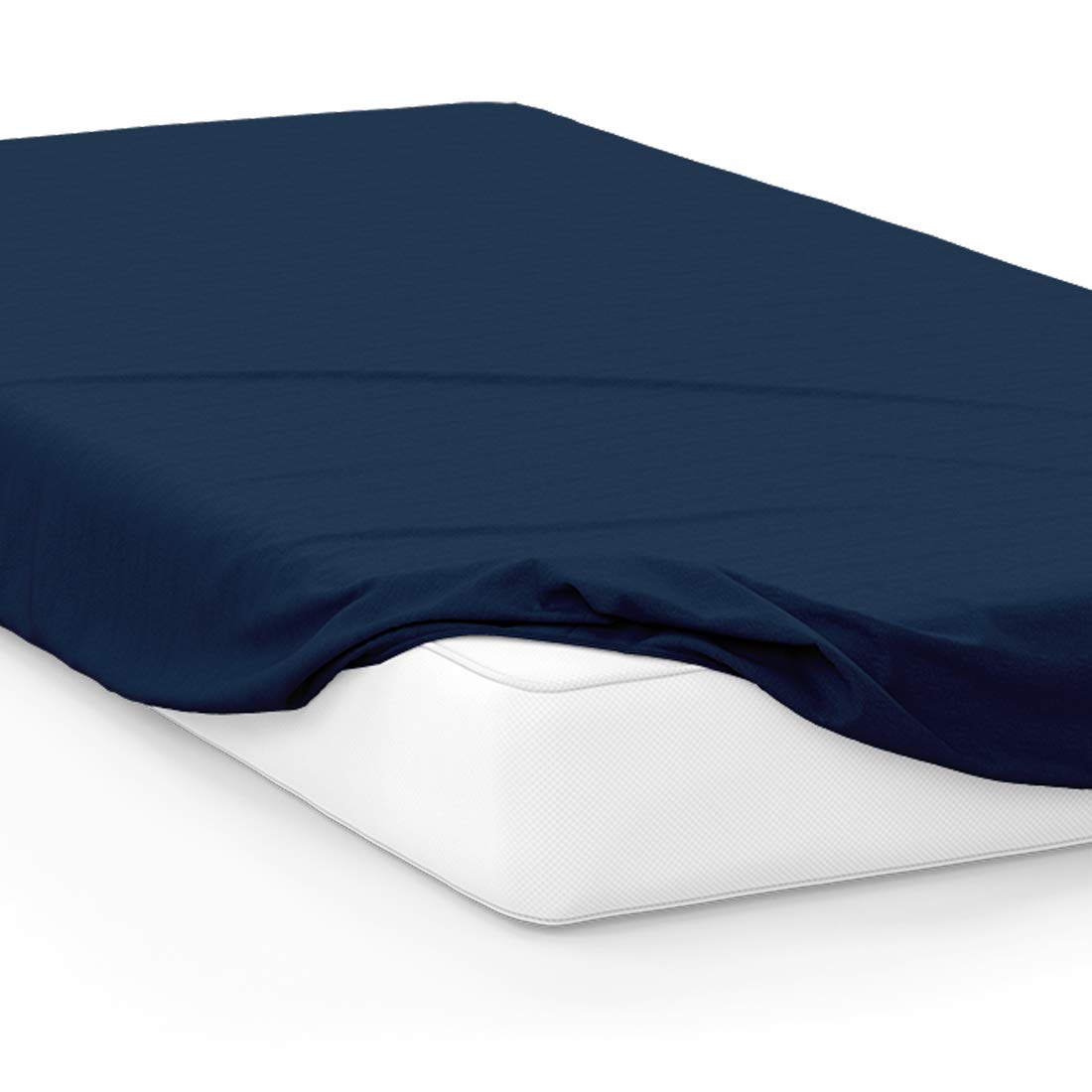 American Pillowcase College Dorm Twin XL Bed Fitted Mattress Sheet Ultra Soft Hypoallergenic Wrinkle-Free, Stain, and Fade Resistant - Navy Blue PMS 289