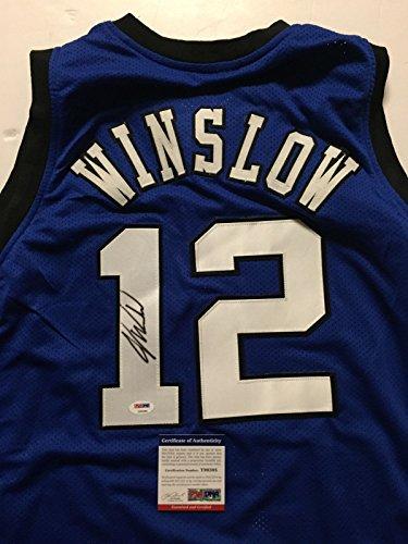 Autographed/Signed Justise Winslow Duke Blue College Basketball Jersey PSA/DNA COA