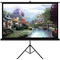 EZAPOR 100 inch Diagonal 16:9 Projection Screen Outdoor Projector Screen for Home Cinema Office Presentation Meeting with Tripod Stand PVC Fabric Matte White