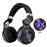 GOODLOGO Headphones Bluetooth Headphones Wireless Headset T2S Foldable Without Cable Earphone Perfect Sound Quality for Tablets, SmartPhones Computers,Laptops,TV's,All Head Sizes (Black)
