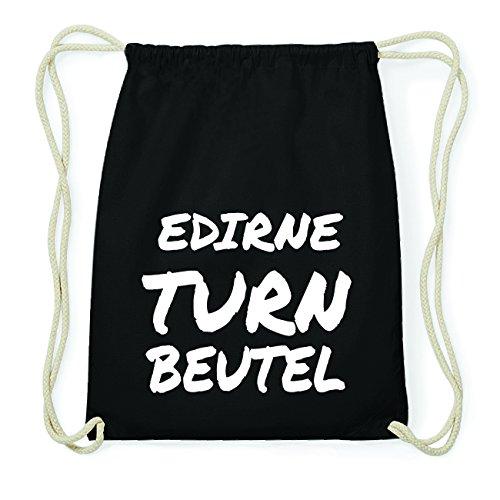 JOllify EDIRNE Hipster Turnbeutel Tasche Rucksack aus Baumwolle - Farbe: schwarz Design: Turnbeutel HV9MDDib