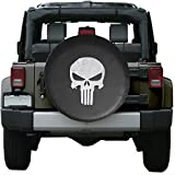 pinlang Big Skull Spare Wheel Tire Cover Fit Jeep Wrangler,Liberty Classic Grill R15 (Big)