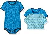 Care Baby-Jungen Body 4133, 3er Pack, Mehrfarbig (Blue 755), 104