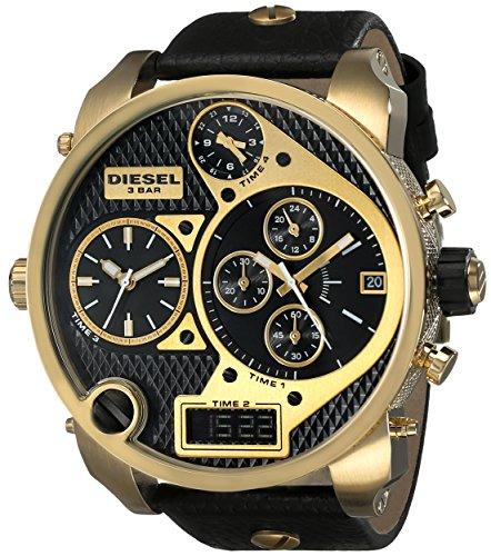 Diesel Men's DZ7323 Mr.Daddy Analog Display Analog Quartz Black Watch (Diesel Men Digital Watch)