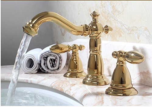 Tyrants Faucet Kitchen luxury new arrival gold brass bathroom 8' wide wash basin mixer sink mixer, chrome, Multi