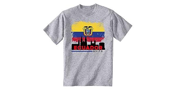 teesquare1st QUITO ECUADOR Camiseta Gris para hombre de algodonSize Medium: Amazon.es: Ropa y accesorios