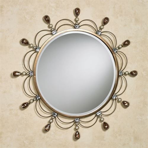 Touch of Class Brigette Round Wall Mirror Champagne Bronze