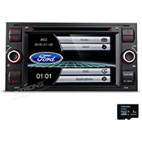 "XTRONS 7"" HD Touch Screen Car Stereo DVD Player with GPS Navigator Bluetooth RDS Radio Screen Mirroring Function for Ford Focus Map Card Included"
